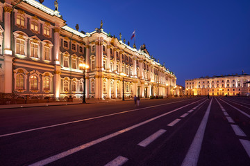 St. Petersburg Russia. Winter Palace in Palace Square