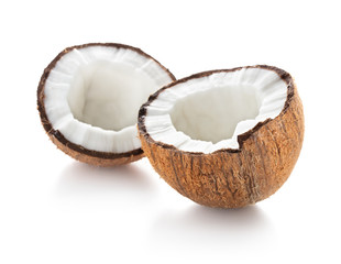 Wall Mural - coconut isolated on white background