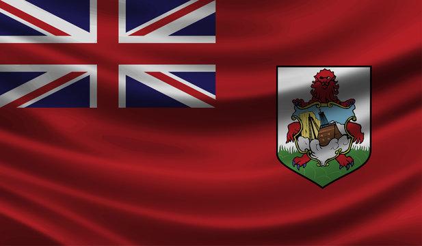 Bermuda wave Flag vector illustration