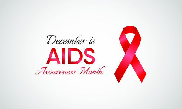 Vector illustration on the theme of AIDS Awareness month of December.