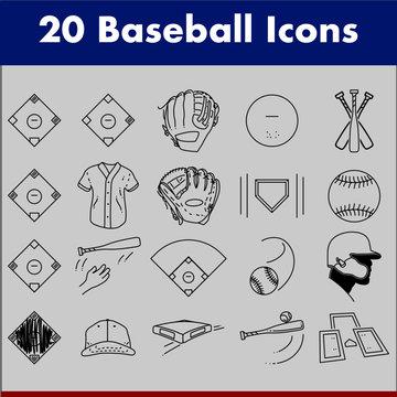20 Baseball Icons