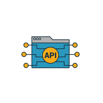 Api icon. Simple element from web development icons collection. Creative Api icon ui, ux, apps, software and infographics