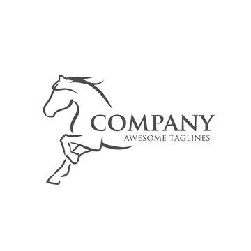 simple horse vector illustration best for sport races logo