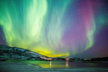 Aluminium Prints Northern lights Northern lights