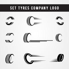 Set of tire shop logo template. tire icon vector illustration.