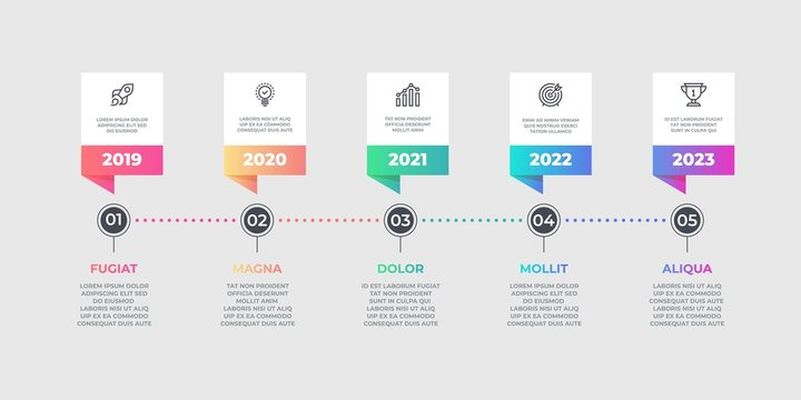 Step infographic element. Business timeline flow chart, options graphic element. Vector lines workflow layout diagram for designs timing work process option