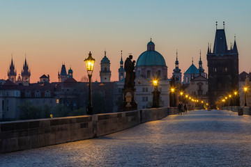 Wall Mural - Charles bridge at Sunrise, Prague, Czech Republic
