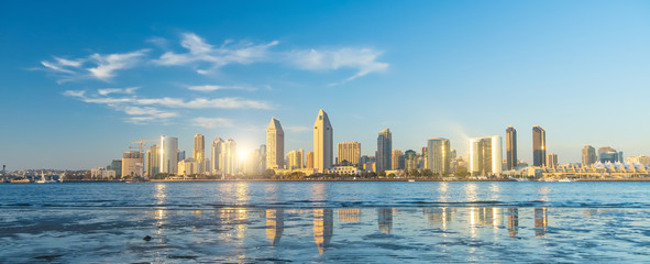 Photo sur Aluminium Piscine Downtown San Diego skyline in California, USA