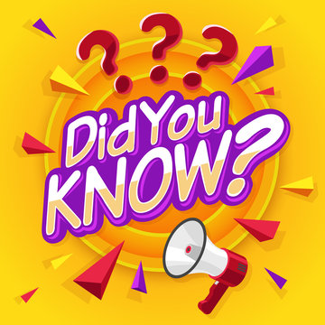 Did you know. Speech bubble with question mark banner. Marketing business and advertising in social media. Interesting fact vector concept