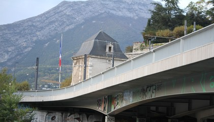 Buildings from the city of Grenoble, France