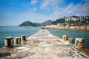 a pier near repulse bay beach in Hong Kong Wall mural