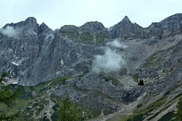 Austrian Alps-view at the cable car on Dachstein