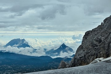 Austrian Alps-outlook of the Alps from Dachstein