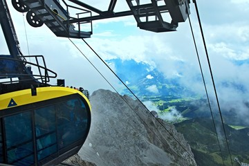 Austrian Alps-outlook of the cable car to Dachstein