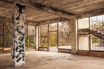 Papiers peints Les vieux bâtiments abandonnés abandoned factory interior