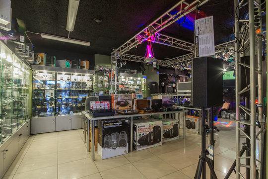 Muz-shop store of musical insrtruments. DJ equipment and accessories