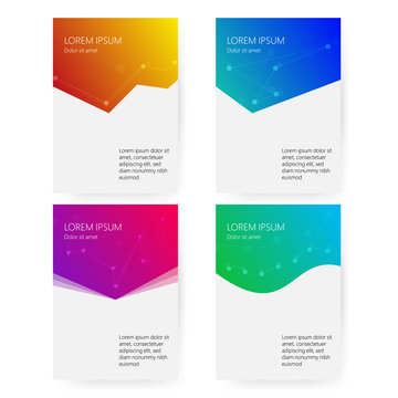 Cover report colorful geometric shapes info-graphic design background