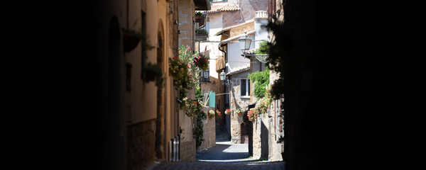 Typical Italian old medieval town