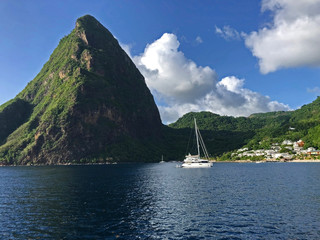 Pitons Bay anchorage St. Lucia