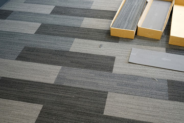 carpet installed in the office building