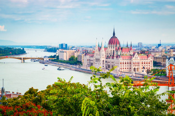 Printed roller blinds Budapest Beautiful view of Hungarian parliament, Budapest , Hungary