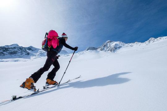 Ski touring ascent