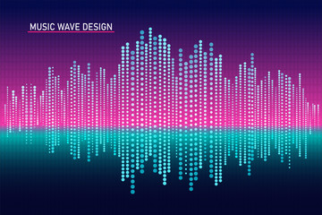 Illustration Abstract Sound Wave Design, Equalizer for music, Showing Sound Wave with Music Wave.
