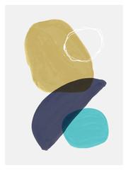Creative minimalist hand painted illustration for wall decoration, postcard or brochure design.
