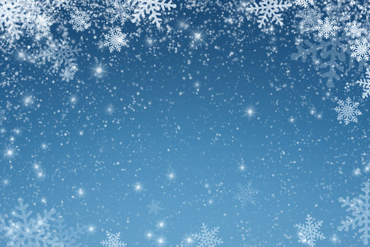 Christmas art abstract background on blue.