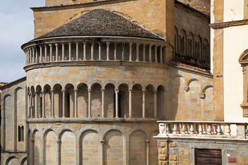 Ancient church in Arezzo, Italy. Apse of Santa Maria della Pieve.