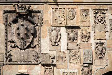 Ancient coat of arms in Arezzo, Italy