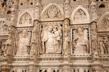 Detail from altar of Arezzo cathedral, Tuscany