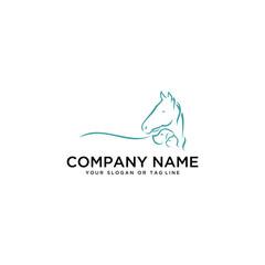 logo design Horse Dog Cat vector template