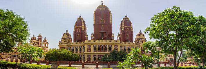 Panoramic view on Shri Laxminarayan Temple, Birla Mandir, Hindu Vishnu Temple in New Delhi, India, Asia.