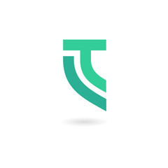 TL or LT letter initial logo concept design in minimalist style