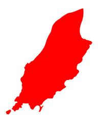 Karte der Isle of Man
