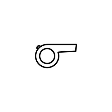 referee whistle icon vector illustration