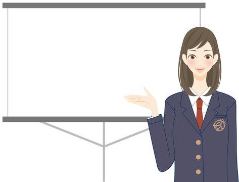 発表 プレゼンテーション 説明 学生 学校 女子