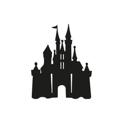 castle logo icon vector illustration design template - Vector