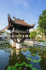 One Pillar pagoda, often used as a symbol for Hanoi, in Hanoi, Vietnam