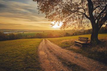 Schöner Ausblick im Herbst