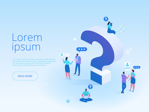 Question mark landing page template
