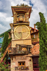 Fototapete - The Leaning Clock Tower landmark of Tbilissi Georgia capital city eastern Europe