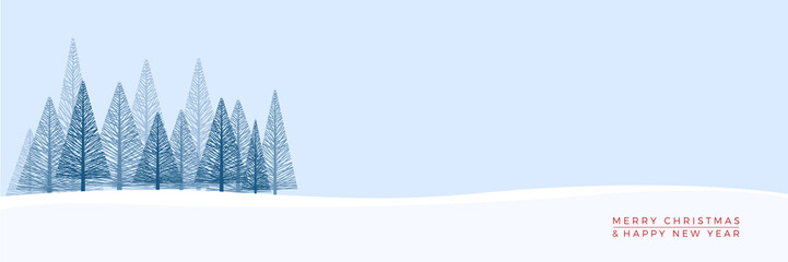 Wall Murals Blue sky Christmas. Abstract vector illustration. Winter landscape background.
