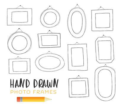 Hand-drawn illustrations of frames.