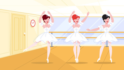 Beautiful balerina performing in the dance class