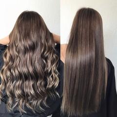 Long brown hair with balayage