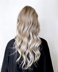 Long blond hair with balayage