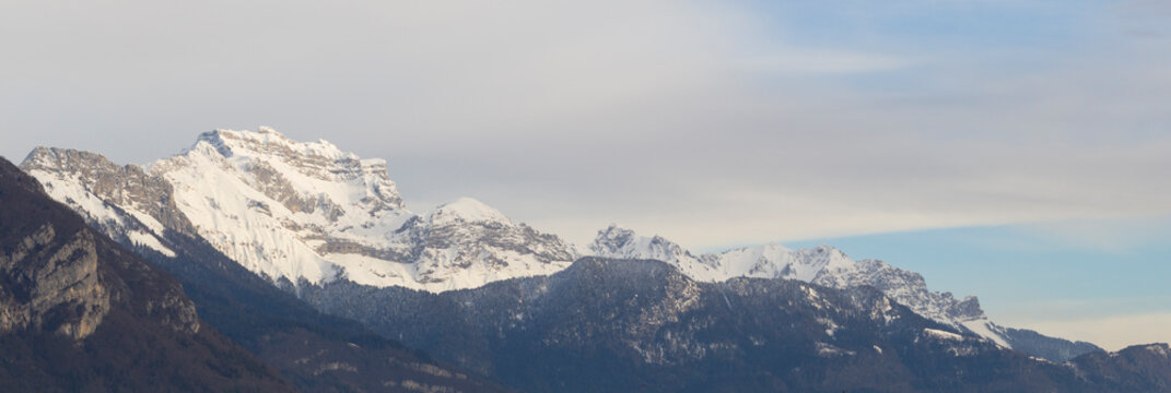 Mountains in the French Alps