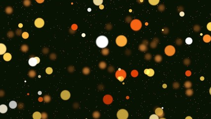 Abstract bokeh particles falling. Happy New Year background